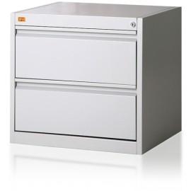 Szafa kartotekowa 2-szufladowa, 2-rzędowa, format B5 KOP/2
